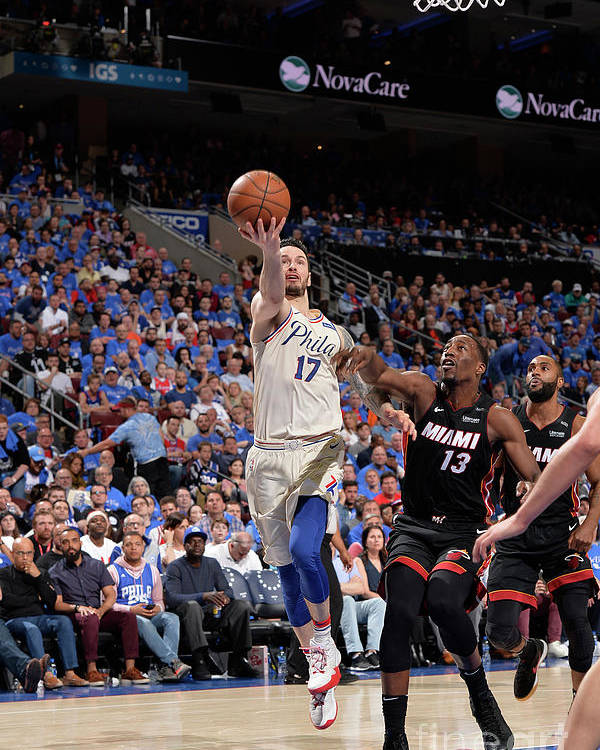 Playoffs Poster featuring the photograph J.j. Redick by David Dow