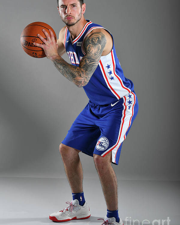 Media Day Poster featuring the photograph J.j. Redick by Jesse D. Garrabrant