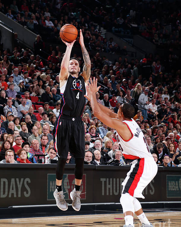 Nba Pro Basketball Poster featuring the photograph J.j. Redick by Sam Forencich