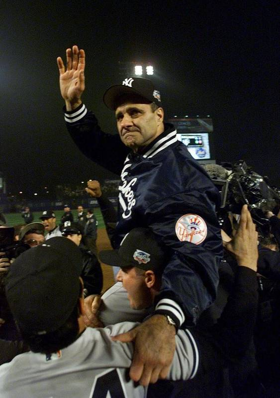 Celebration Poster featuring the photograph Joe Torre by Jed Jacobsohn