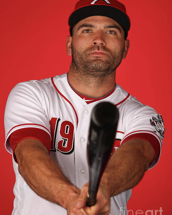Media Day Poster featuring the photograph Joey Votto by Christian Petersen