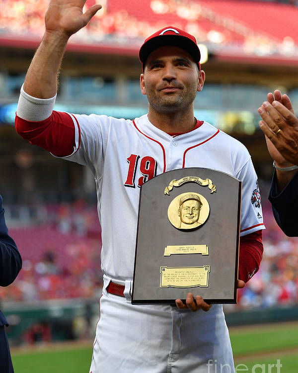 Great American Ball Park Poster featuring the photograph Joey Votto by Jamie Sabau