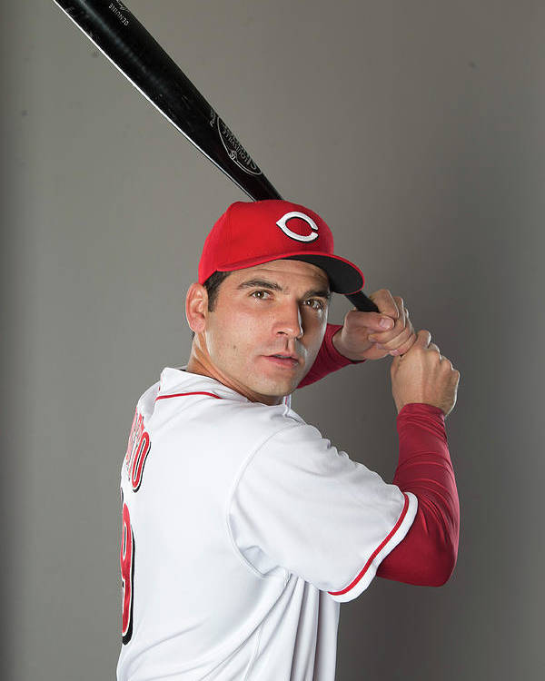American League Baseball Poster featuring the photograph Joey Votto by Mike Mcginnis