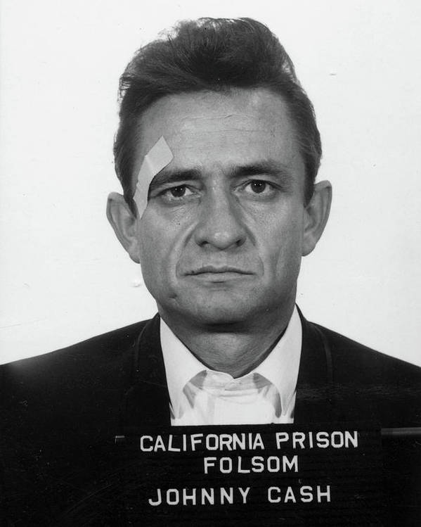 Johnny Cash Poster featuring the painting Johnny Cash Mugshot by Historical Photo