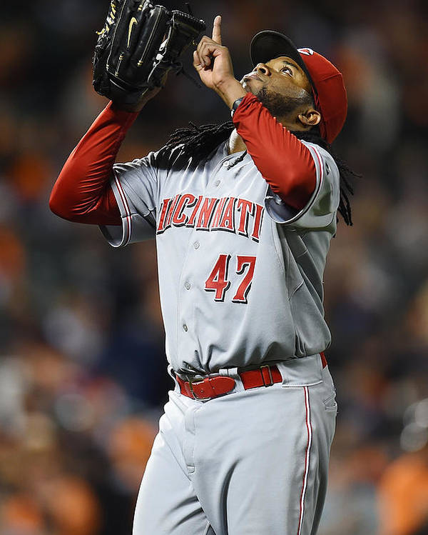 San Francisco Poster featuring the photograph Johnny Cueto by Thearon W. Henderson