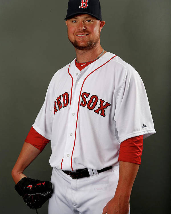 Media Day Poster featuring the photograph Jon Lester by Elsa