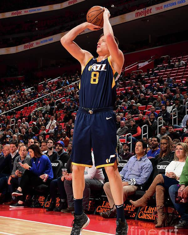 Nba Pro Basketball Poster featuring the photograph Jonas Jerebko by Chris Schwegler