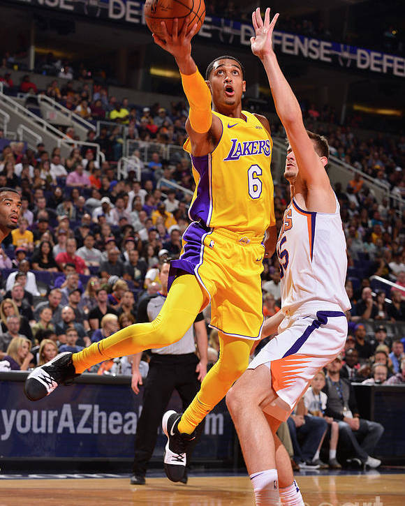 Nba Pro Basketball Poster featuring the photograph Jordan Clarkson by Barry Gossage