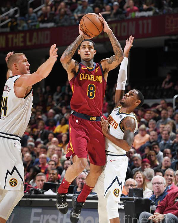 Nba Pro Basketball Poster featuring the photograph Jordan Clarkson by Garrett Ellwood