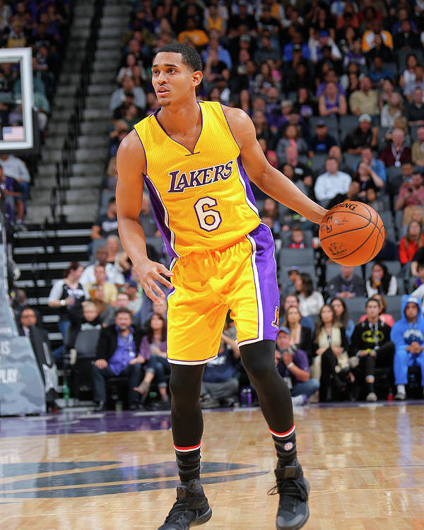 Nba Pro Basketball Poster featuring the photograph Jordan Clarkson by Rocky Widner
