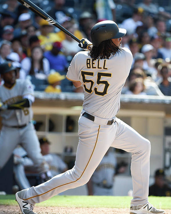 Ninth Inning Poster featuring the photograph Josh Bell by Denis Poroy