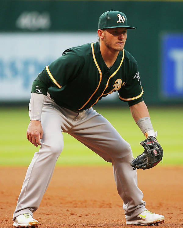 American League Baseball Poster featuring the photograph Josh Donaldson by Scott Halleran