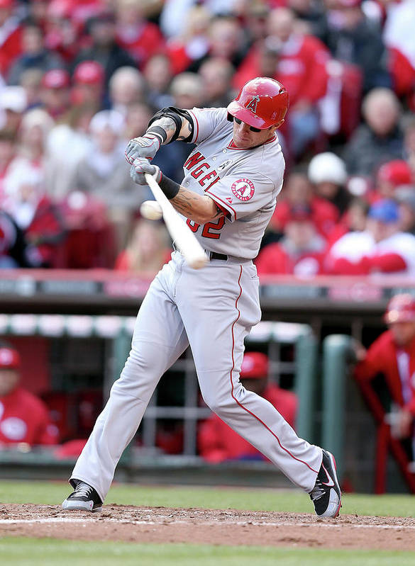 Great American Ball Park Poster featuring the photograph Josh Hamilton by Andy Lyons