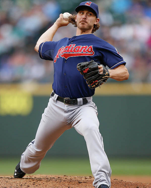 American League Baseball Poster featuring the photograph Josh Tomlin by Otto Greule Jr