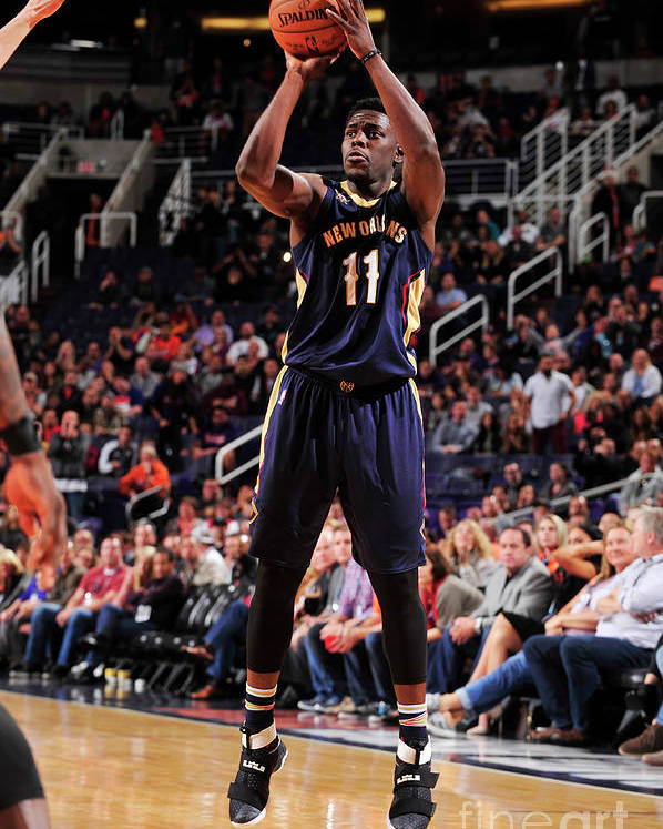 Nba Pro Basketball Poster featuring the photograph Jrue Holiday by Barry Gossage