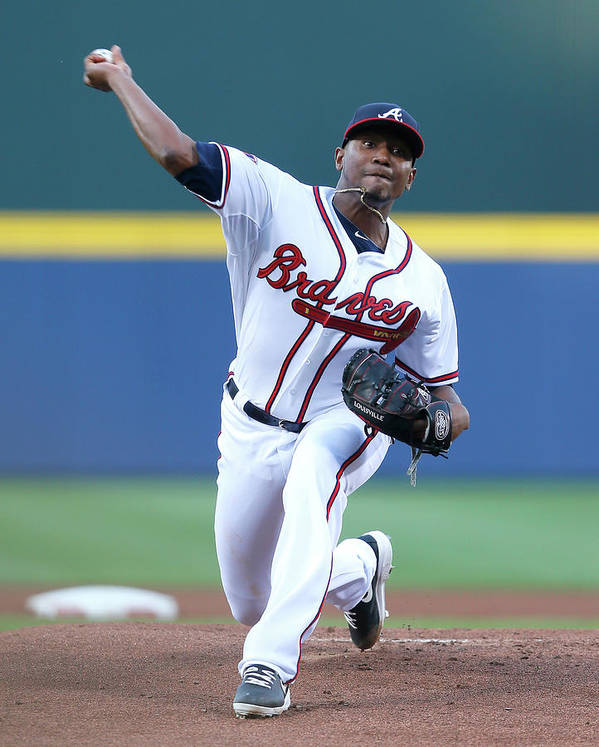 Atlanta Poster featuring the photograph Julio Teheran by Kevin C. Cox