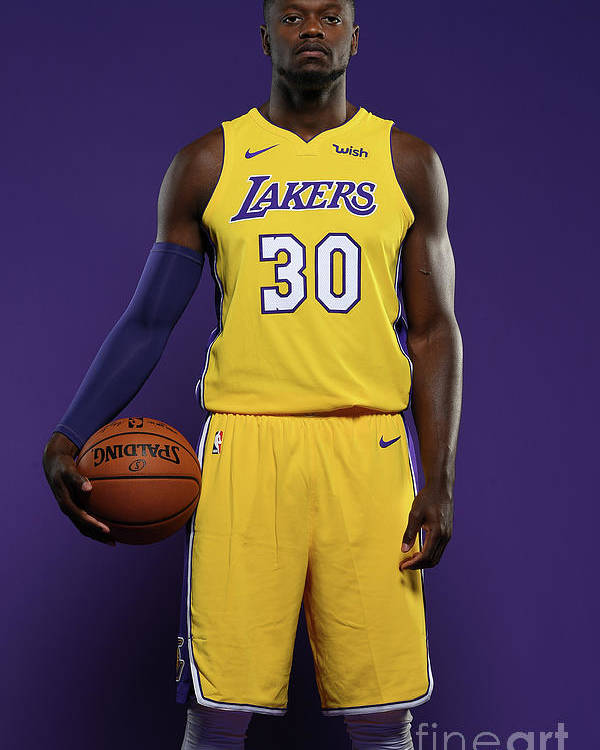 Media Day Poster featuring the photograph Julius Randle by Aaron Poole