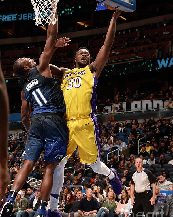 Nba Pro Basketball Poster featuring the photograph Julius Randle by Gary Bassing
