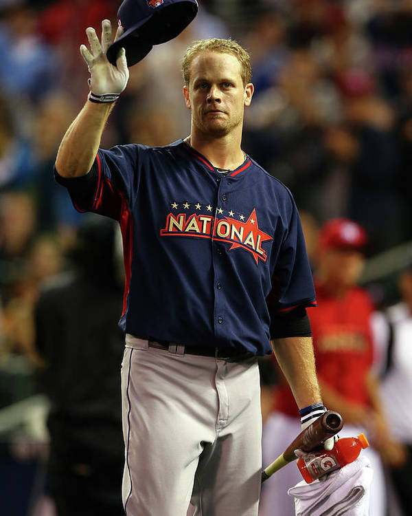 Crowd Poster featuring the photograph Justin Morneau by Elsa