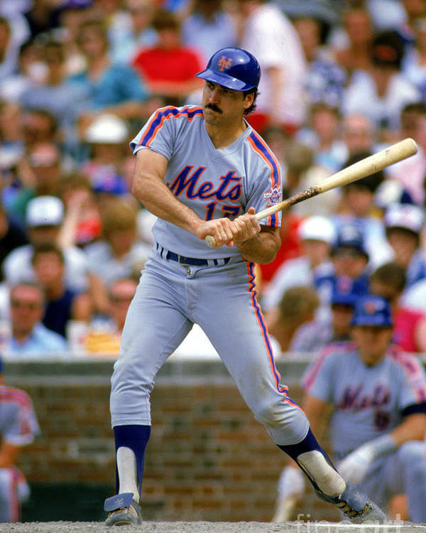 1980-1989 Poster featuring the photograph Keith Hernandez by Ron Vesely