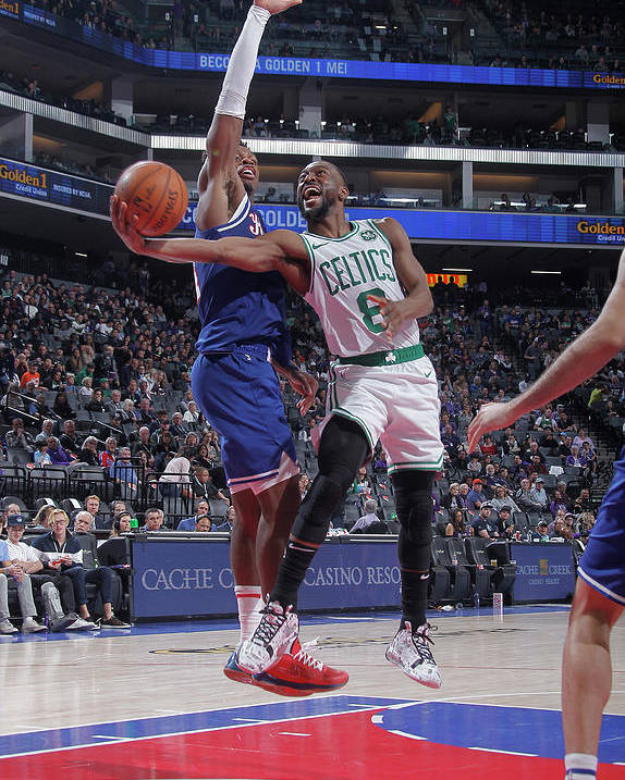 Kemba Walker Poster featuring the photograph Kemba Walker and Buddy Hield by Rocky Widner