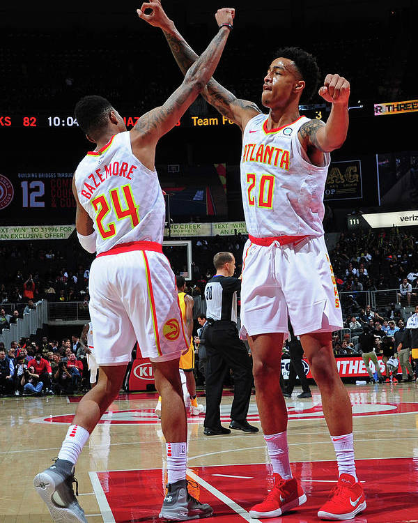 Atlanta Poster featuring the photograph Kent Bazemore and John Collins by Scott Cunningham