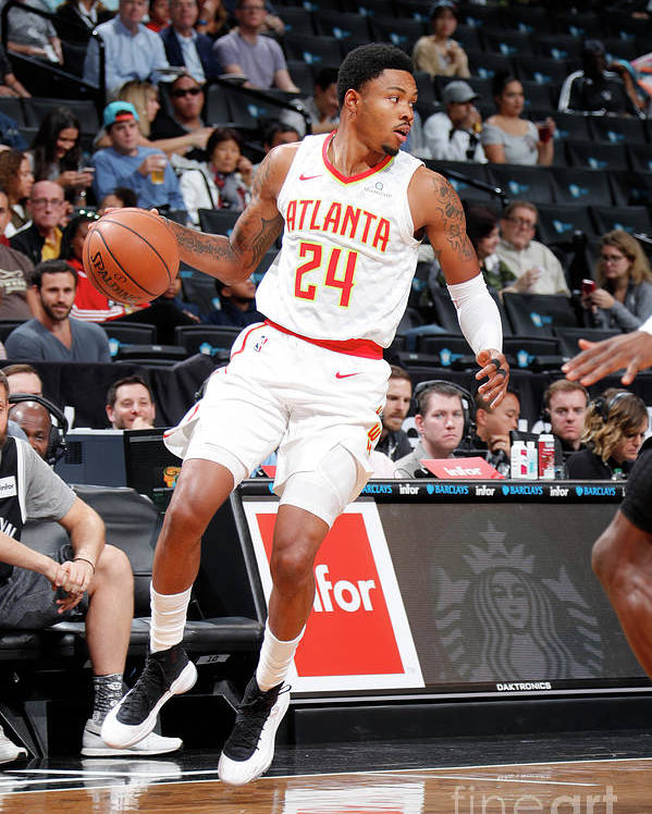 Nba Pro Basketball Poster featuring the photograph Kent Bazemore by Nathaniel S. Butler