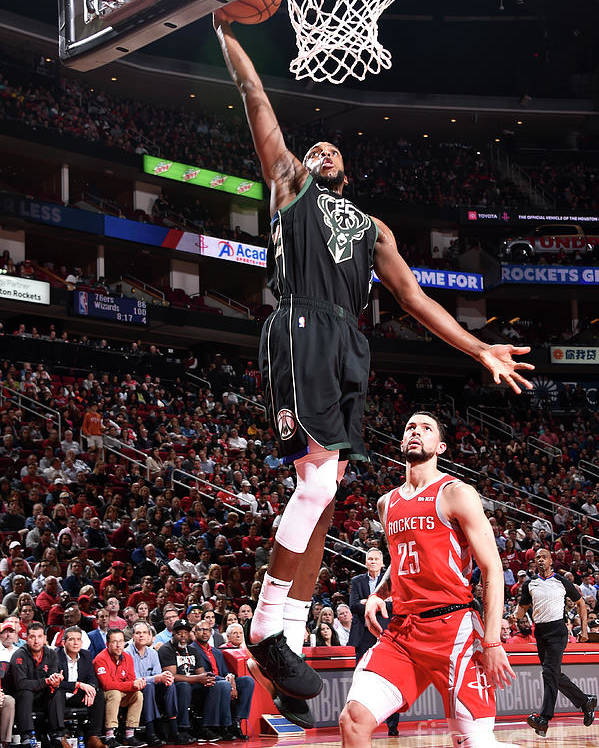 Nba Pro Basketball Poster featuring the photograph Khris Middleton by Bill Baptist