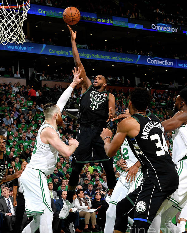 Playoffs Poster featuring the photograph Khris Middleton by Brian Babineau