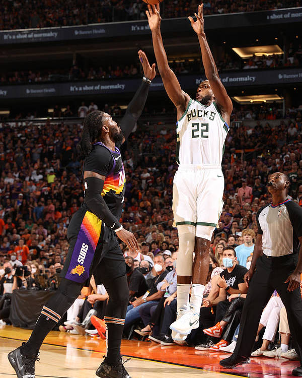 Playoffs Poster featuring the photograph Khris Middleton by David Sherman