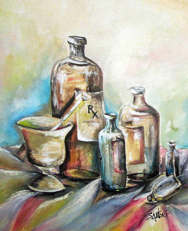 Pharmaceuticals Poster featuring the painting Kindered Spirits SOLD by Amanda Sanford