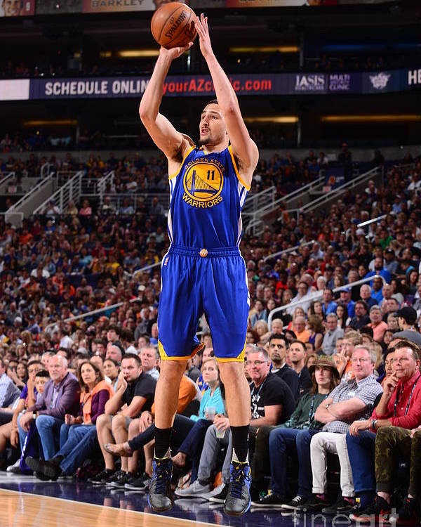 Nba Pro Basketball Poster featuring the photograph Klay Thompson by Barry Gossage