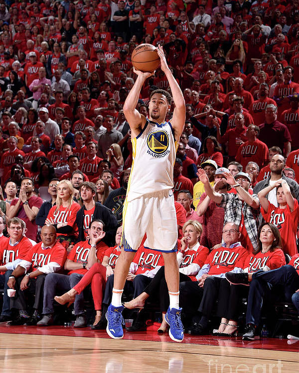Playoffs Poster featuring the photograph Klay Thompson by Bill Baptist