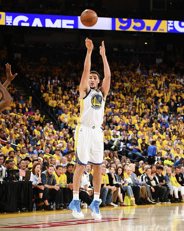 Playoffs Poster featuring the photograph Klay Thompson by Garrett Ellwood
