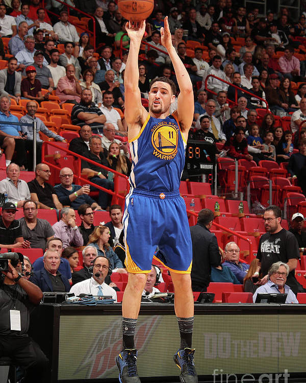 Nba Pro Basketball Poster featuring the photograph Klay Thompson by Issac Baldizon