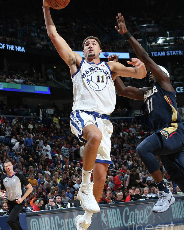 Smoothie King Center Poster featuring the photograph Klay Thompson by Layne Murdoch