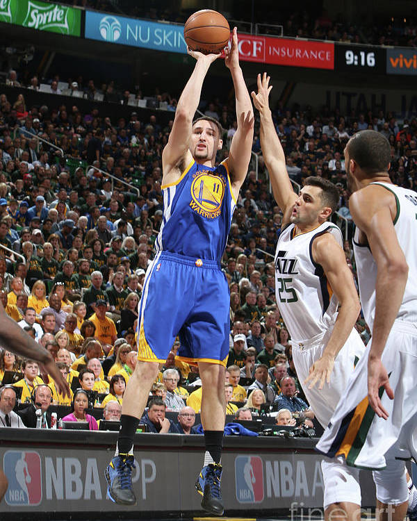 Playoffs Poster featuring the photograph Klay Thompson by Melissa Majchrzak