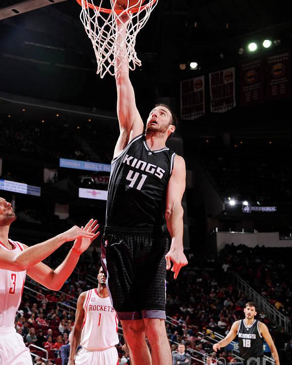 Nba Pro Basketball Poster featuring the photograph Kosta Koufos by Bill Baptist
