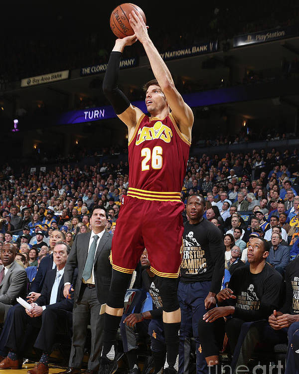 Nba Pro Basketball Poster featuring the photograph Kyle Korver by Nathaniel S. Butler