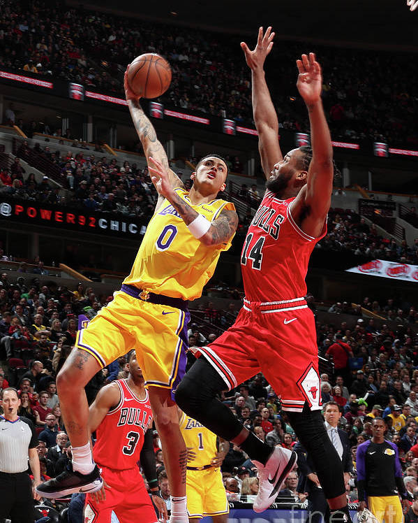 Nba Pro Basketball Poster featuring the photograph Kyle Kuzma by Nathaniel S. Butler