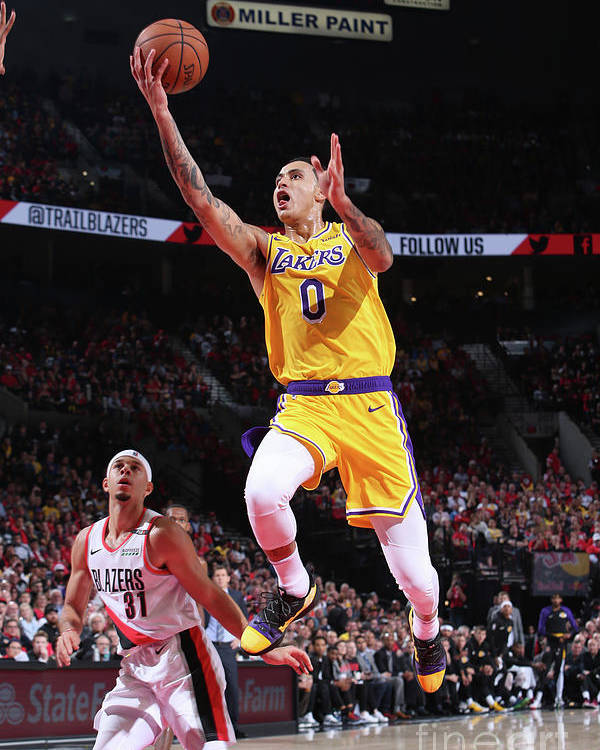 Nba Pro Basketball Poster featuring the photograph Kyle Kuzma by Sam Forencich