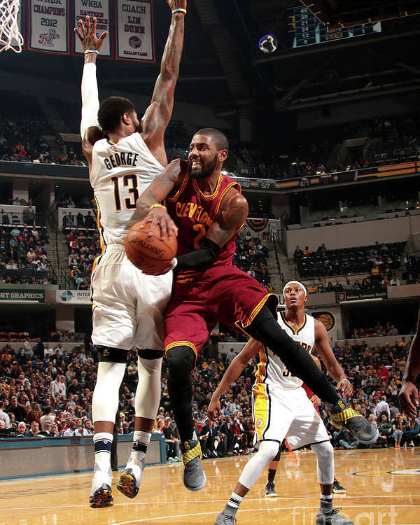 Nba Pro Basketball Poster featuring the photograph Kyrie Irving by Ron Hoskins