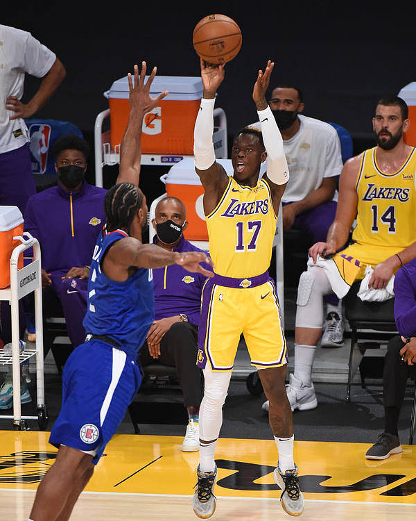 Nba Pro Basketball Poster featuring the photograph LA Clippers v Los Angeles Lakers by Adam Pantozzi