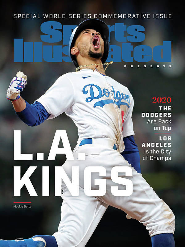 Mlb Poster featuring the photograph Los Angeles Dodgers Special World Series Commemorative Sports Illustrated Cover by Sports Illustrated