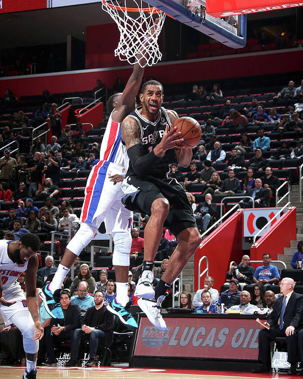 Nba Pro Basketball Poster featuring the photograph Lamarcus Aldridge by Brian Sevald