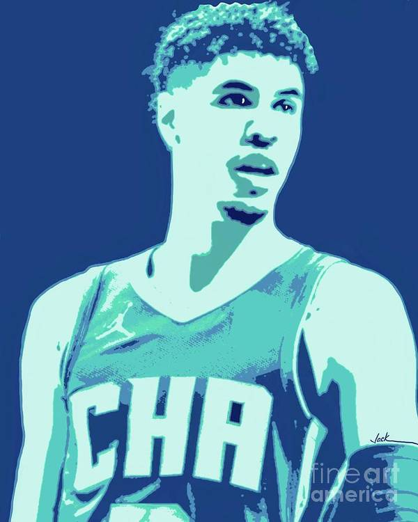 Lamelo Poster featuring the painting LaMelo Ball by Jack Bunds
