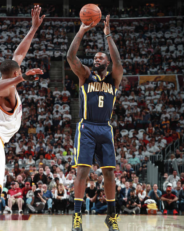Playoffs Poster featuring the photograph Lance Stephenson by Jeff Haynes