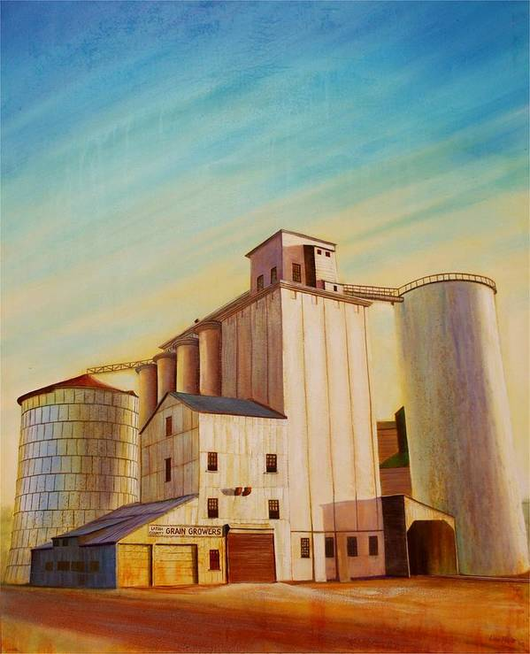 Grain Poster featuring the painting Latah County Grain Growers by Leonard Heid
