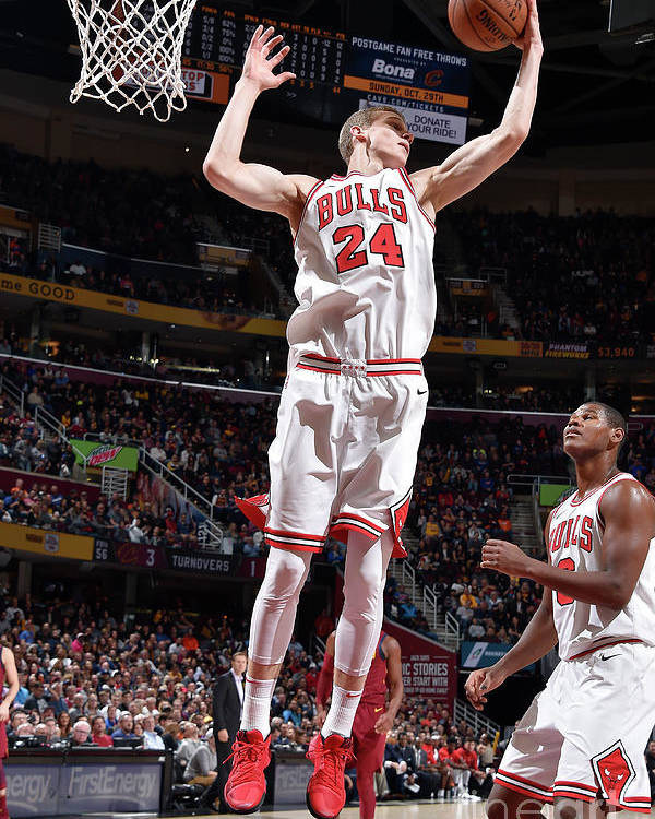 Chicago Bulls Poster featuring the photograph Lauri Markkanen by David Liam Kyle