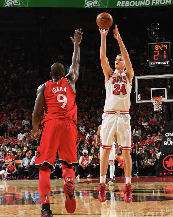 Chicago Bulls Poster featuring the photograph Lauri Markkanen by Ron Turenne
